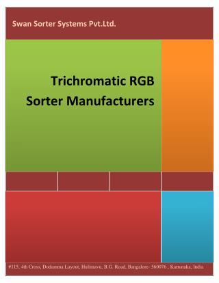 Trichromatic RGB Sorter manufacturers