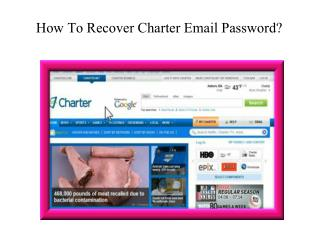 How to recover charter email password?|Charter helpline phone number