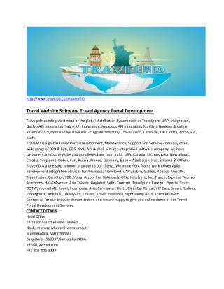Travel Website Software Travel Agency Portal Development