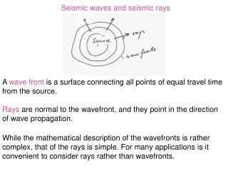 Seismic waves and seismic rays
