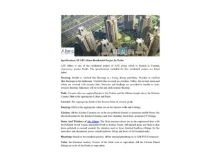 Specifications Of ATS Allure Residential Project In Noida