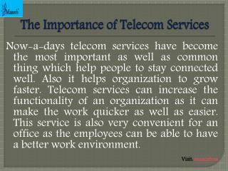 The Importance of Telecom Services