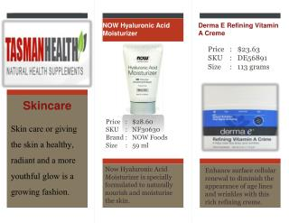 tasmanhealth.co.nz | Skin care