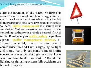 Traffic Management Equipment in NZ