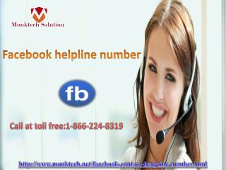 Facebook helpline number to get arrangement 1-866-224-8319