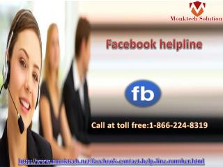 Speedy Solution Just Dial 1-866-224-8319 Facebook helpline