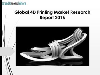 Global 4D Printing Market Research Report 2016