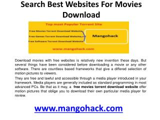 Free movies torrent download website