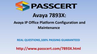 Avaya IP Office 7893X dumps