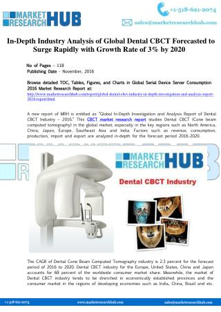 Global Dental CBCT Market Research Report 2020