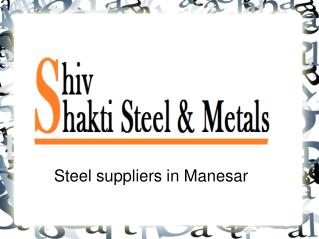 Best Steel suppliers in Manesar