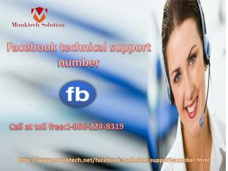 Get the fastest solution via Facebook technical support number 1-866-224-8319