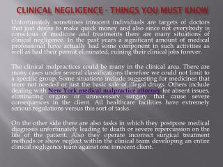 Clinical Negligence - Things You Must Know
