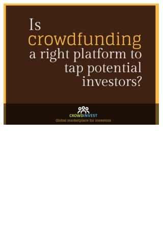 Crowdfunding by crowdinvest