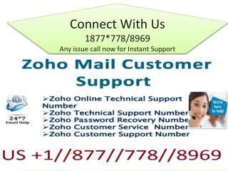 Zoho Technical 1877~~778~8969@ Support for Email support