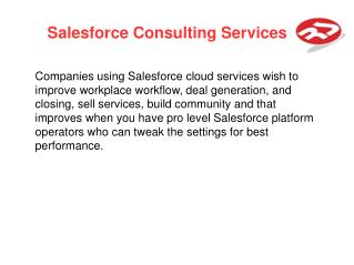 Salesforce Consulting Services | RichestSoft