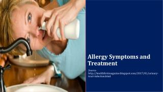 Allergy Symptoms and Treatment