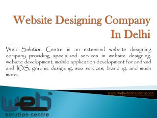 Best Website Designing Company In West Delhi