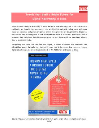 Trends that Spell a Bright Future for Digital Advertising in India
