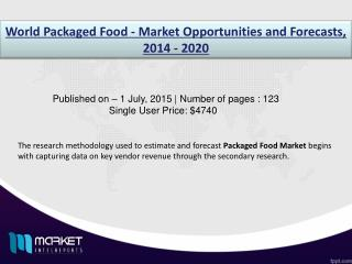 Packaged Food Market: A great source for easy migration along with potential health benefits