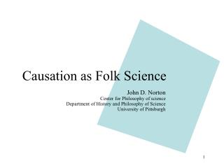Causation as Folk Science