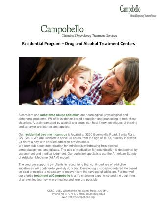 Residential Treatment center - Campobello Chemical Dependency Treatment