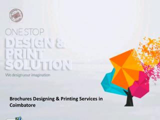 Brochure Designing and Printing Services in Coimbatore
