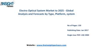 Electro Optical System Market Share, Size, Forecast and Trends by 2025 |The Insight Partners