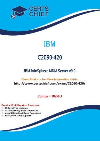C2090-420 PDF Dumps with Answers