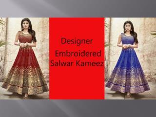 Party Wear Anarkali Suits | Embroidered Anarkali By Designersandyou