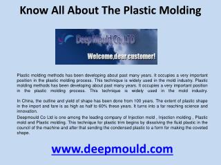 Know all about the Plastic molding