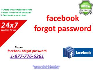 facebook forgot password @1-877-776-6261 at Anytime