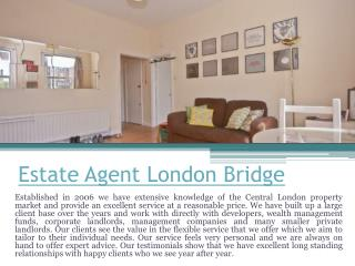 Estate Agent London City Centre