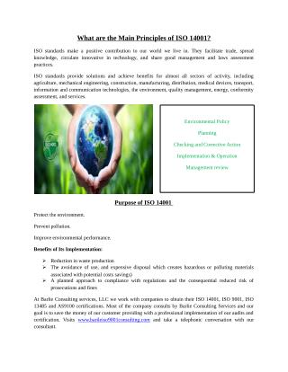 Main Principles of ISO 14001