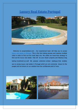 Luxury Real Estate Portugal