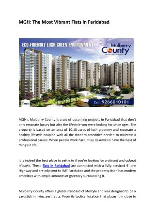 MGH: The Most Vibrant Flats in Faridabad