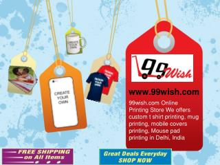 Photo Printing on T-shirts, Mugs, Mobile Covers online in Delhi, India