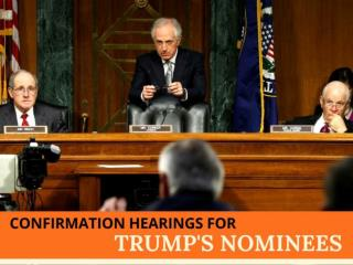 Confirmation hearings for Trump's nominees