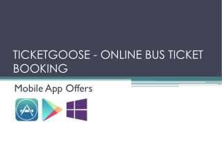 Ticket Goose-Online Ticket Booking
