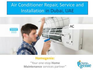 Air Conditioner Repair, Service and Installation in Dubai, UAE