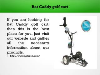 Bat Caddy golf cart