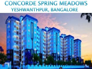 Call: ( 91) 9953 5928 48 and Buy Concorde Spring Meadows, Bangalore