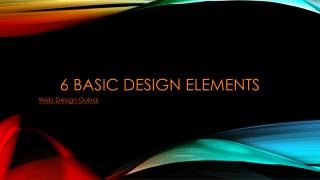 6 Basic Design Elements
