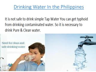 Drinking Water In the Philippines