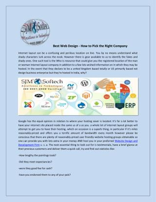 Web designing and Software Development Company in india