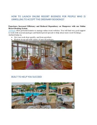 Online Resort Websites Script | Online Resort Booking - Appkodes