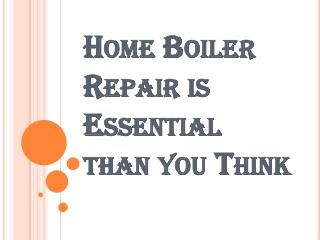 Important Guidelines Related to Boiler Repair