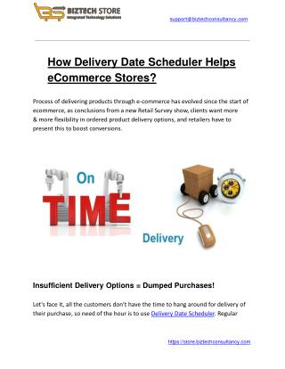 How Delivery Date Scheduler Helps eCommerce Stores?