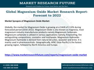 Global Magnesium Oxide Market Research Report- Forecast to 2022