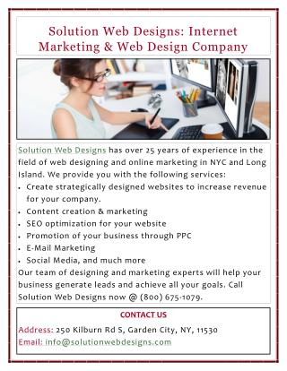 Solution Web Designs: Internet Marketing & Web Design Company